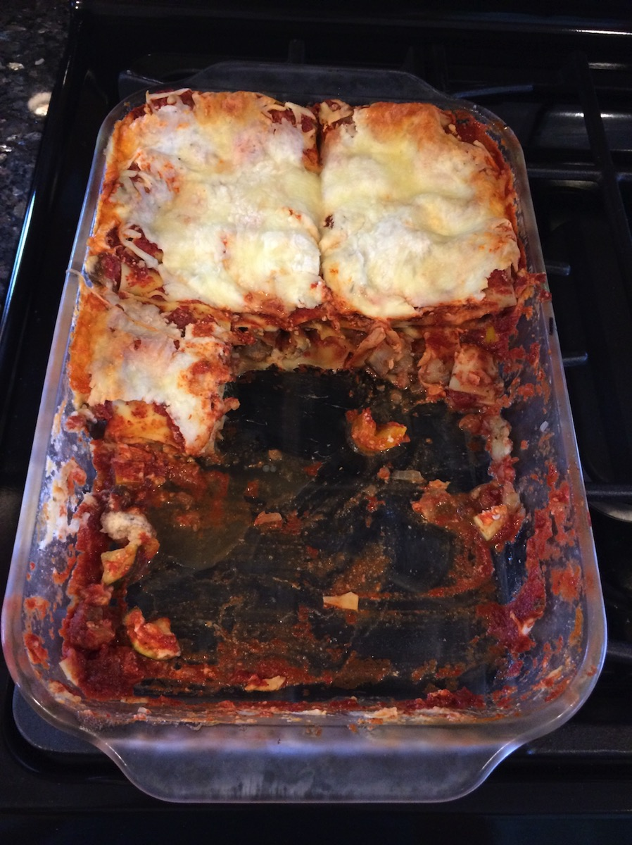 Ratatouille Lasagna Cooked