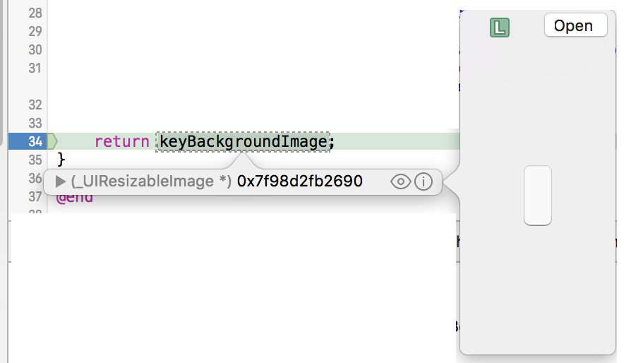 Xcode showing Quick Look variable view