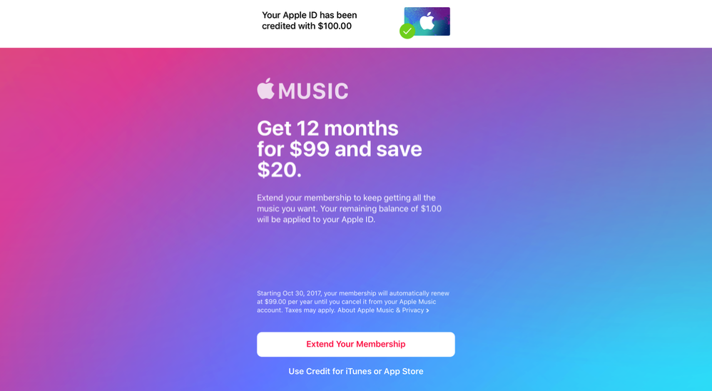 Apple Music Offer