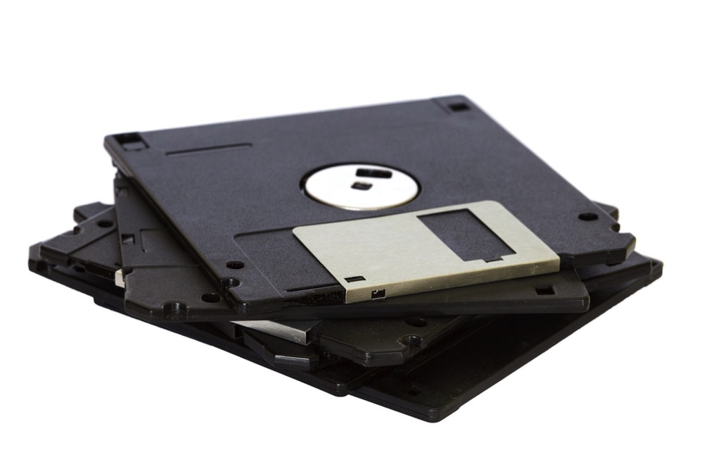 Old School Storage: Stack of Floppy Disks
